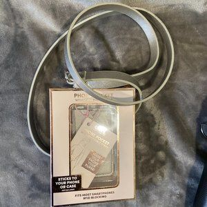NWT ELLIE Silver Phone Case with Strap